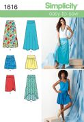 1616 Simplicity Pattern: Misses' Knit or Woven Skirts